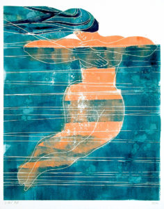 sue ribbans - water linocut